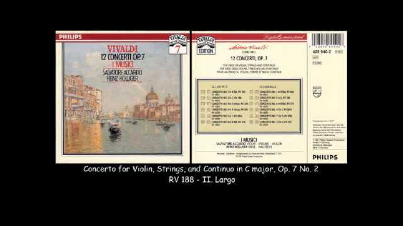 Vivaldi - 12 Concertos Op. 7 - I Musici - Salvatore Accardo - 1975