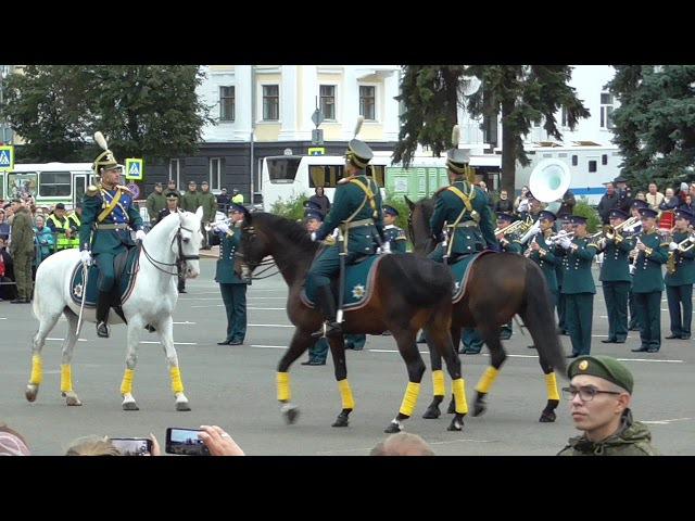 3 Рота специального караула Президентского полка Встреча командира