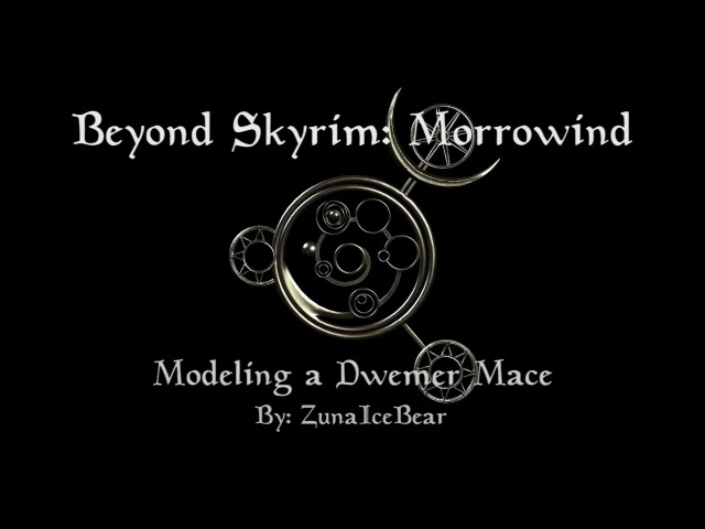 Beyond Skyrim: Morrowind - Dwemer Mace Timelapse