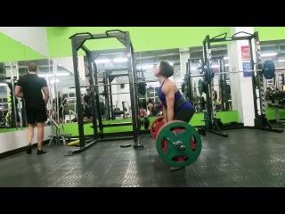 Юлия Зауголова, тяга 190 кг на 5 раз
