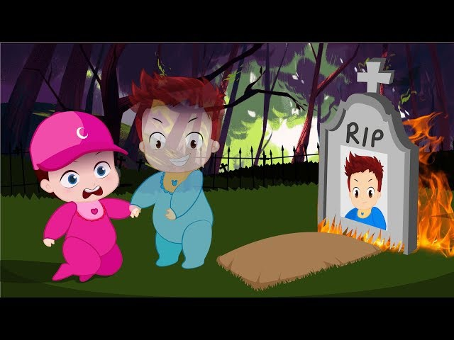 Cartoons Sun Moon Babies Pretend to die Ghost Pranks Compilation! Learn Color with Finger Family 6