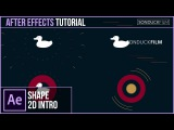 After Effects Tutorial: 2D Logo Intro - Shape Motion Graphics