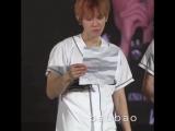 FANCAM 170318 EXO Baekhyun reading EXO-L's letter @ EXO'rDium in Malaysia