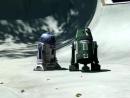 R2D2 Skatepark riding grinding flip