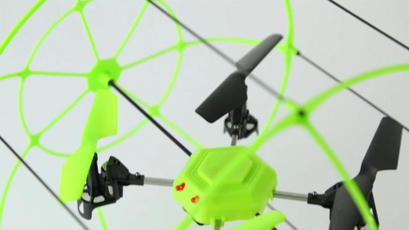 Радиоуправляемый Квадрокоптер в сфере из сетки (2.4Ghz, 22 см)