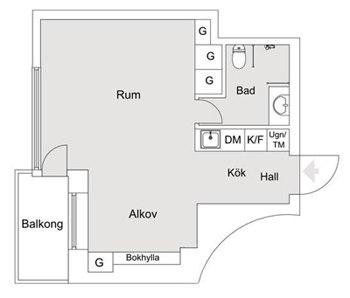 Квартира-студия 29 м.