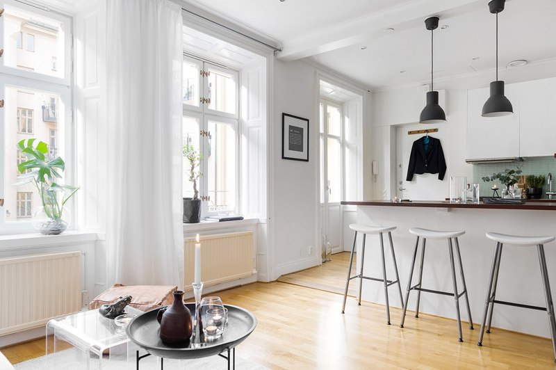 Скандинавский интерьер: квартира-студия 31 м.