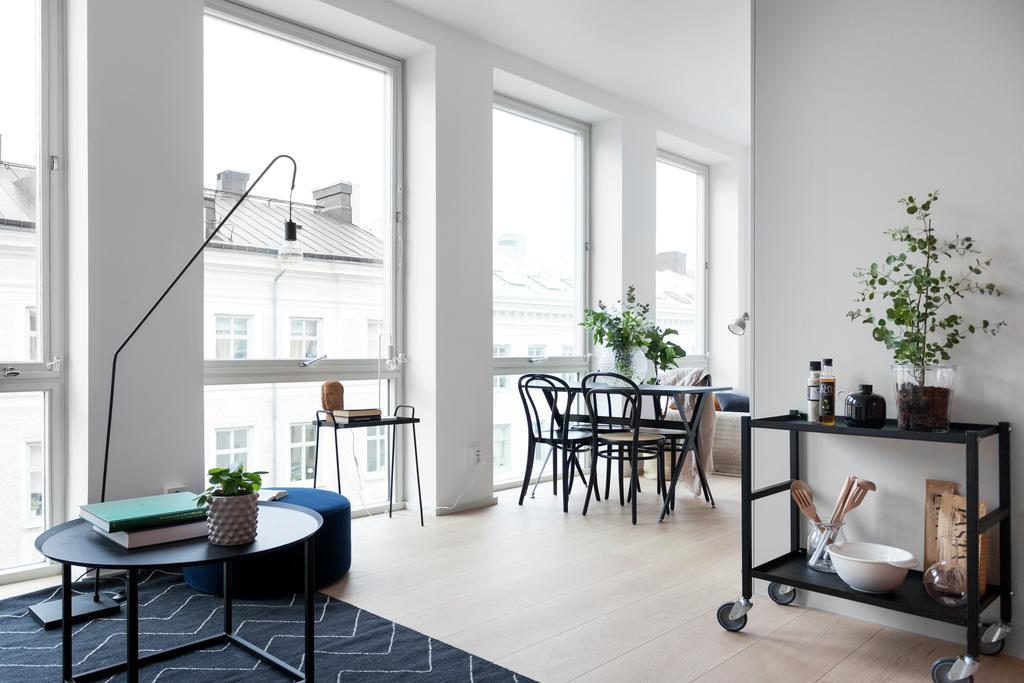 Скандинавский интерьер: квартира-студия 35 м.