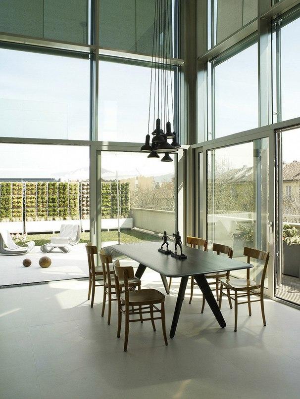 Пентхаус на крыше промышленного завода в Турине  Архитекторы