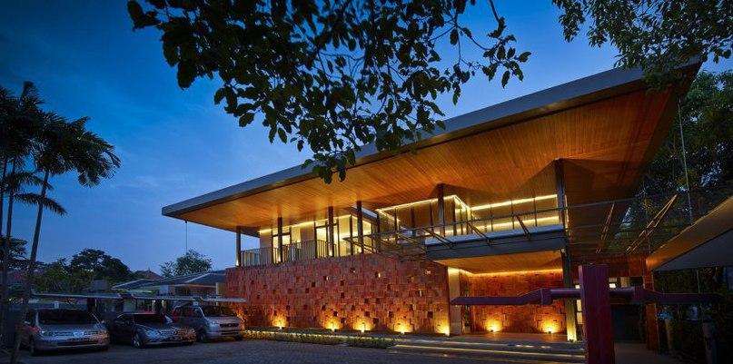 Частный дом в Индонезии #дома #архитектура #ландшафт
