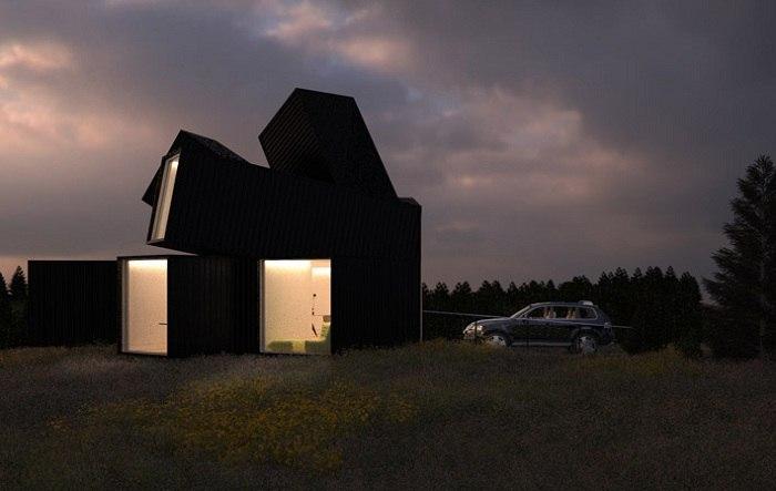 Оригинальность и практичность контейнерного строения.  Каждый архитектор надеется