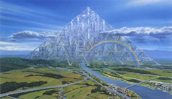 11. Плавающая пирамида в Токио, Япония Проект пирамиды