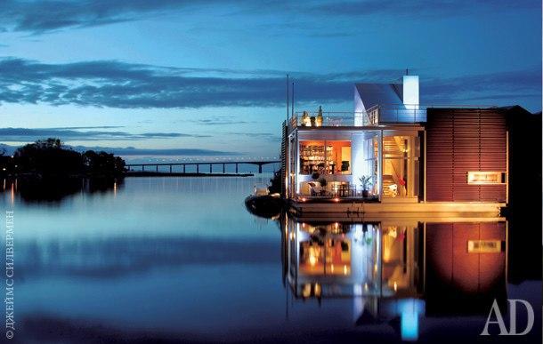 Плавучая вилла в Швеции, 178 м² Вилла Накрос