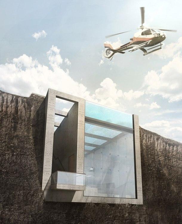 Подземный дом на берегу моря  Проект подземного дома