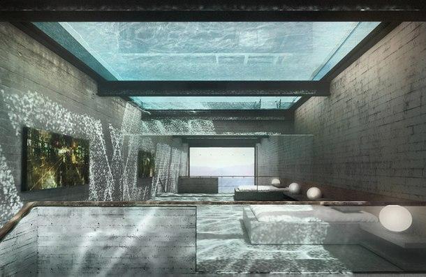 Подземный дом на берегу моря  Блок 2