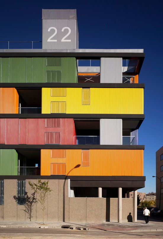 7 САМЫХ ЯРКИХ АРХИТЕКТУРНЫХ ПОСТРОЕК. Жилой дом, Мадрид Архитектурная