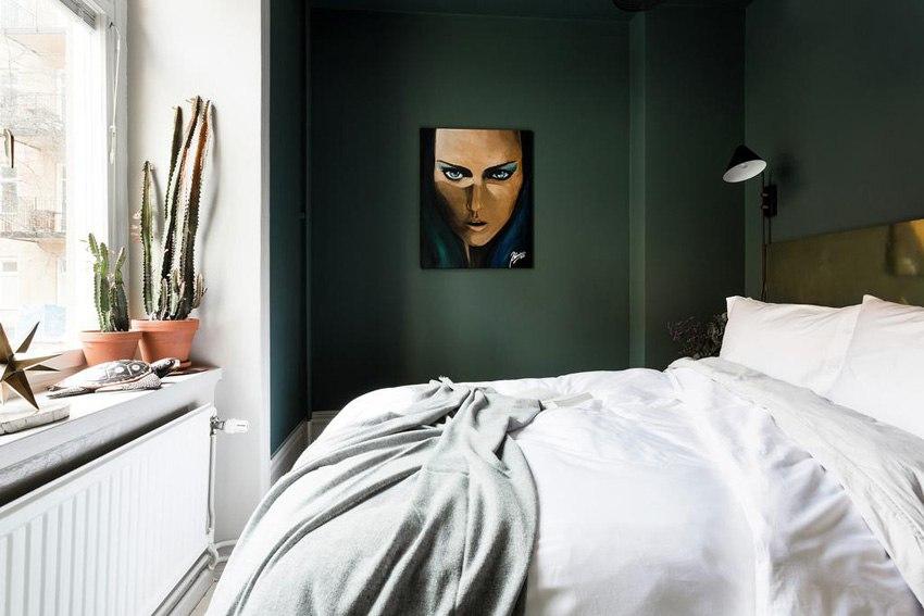 Скандинавский интерьер квартиры 38 м с маленькой спальней.