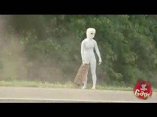 Разбившееся НЛО. Розыгрыш