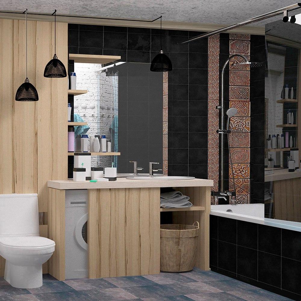 Проект студии в стиле лофт из однокомнатной квартиры, без метража.