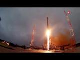 Кадры пуска ракеты-носителя «Союз-2.1в» с космодрома Плесецк