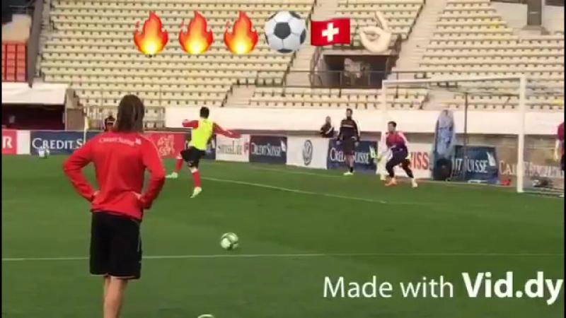 Some ludicrous Shaqiri goals from Switzerland training