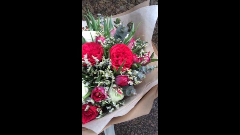 Букет от цветочной мастерской