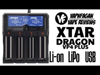 XTAR Dragon VP4 Plus Li-on, LiPo, USB battery charger - VapnFagan