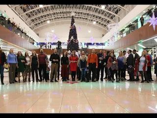 Рождественский перфоманс в ТРЦ