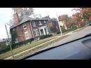 Поездка по Детройту,очень страшное видео.