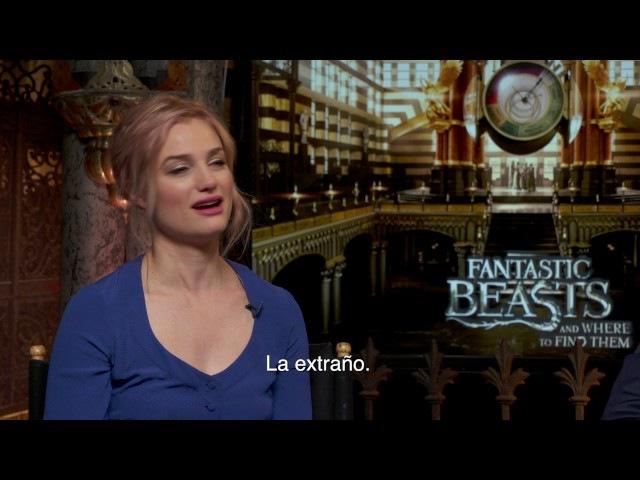 Dan Fogler y Alison Sudol hablan de Fantastic Beasts And Where To Find Them con Alex Medela