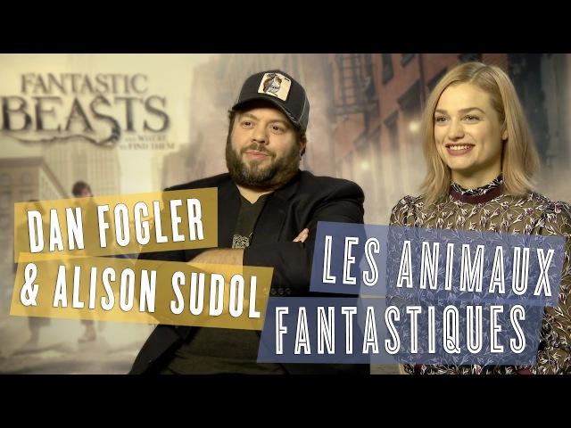 Dan Fogler Alison Sudol interview des révélations des Animaux Fantastiques