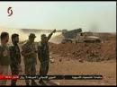 Телеканал Аль-Ихбария Ас-Сурия сопровождает армейские подразделения, участвовавшие в сражениях против нападения группировок организации Джебхат ан-Нусра на севере провинции Хама