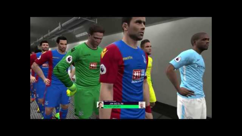 Manchester City vs Crystal Palace - Goals Full Match 2017 - Gameplay PES