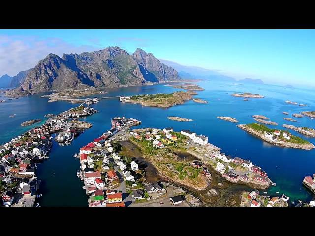 Phantom 2 Vision footage of Lofoten Islands in Norway