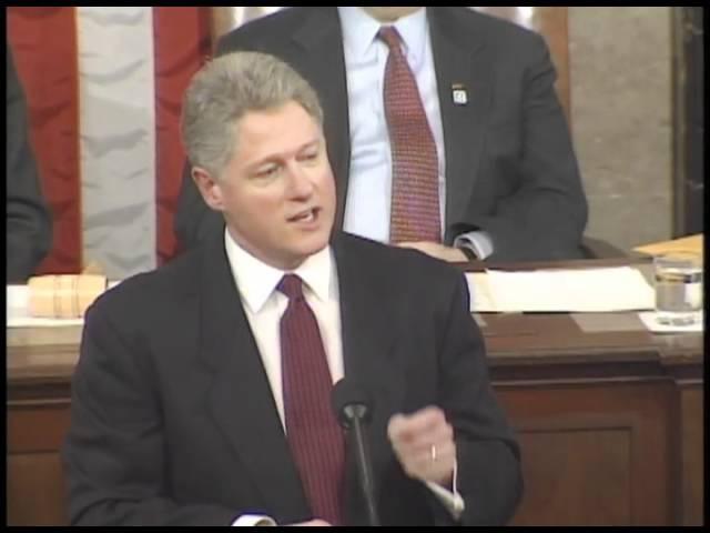Доклад Президента США Билла Клинтона о положении дел в Союзе. 23 января 1996 года.