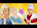 Играем в Доктора БАБА ЯГА Заколдовала ЭЛЬЗУ Доктор ЧЕЛОВЕК ПАУК лечит видео для ...