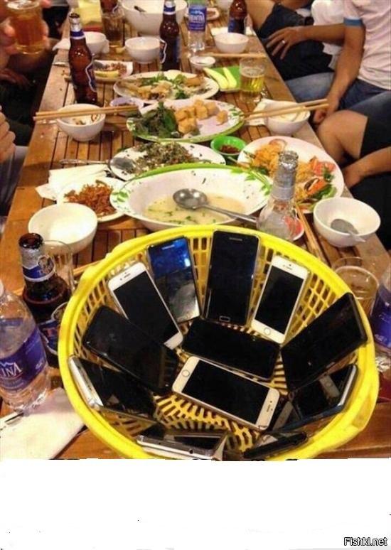 Еда и смартфоны