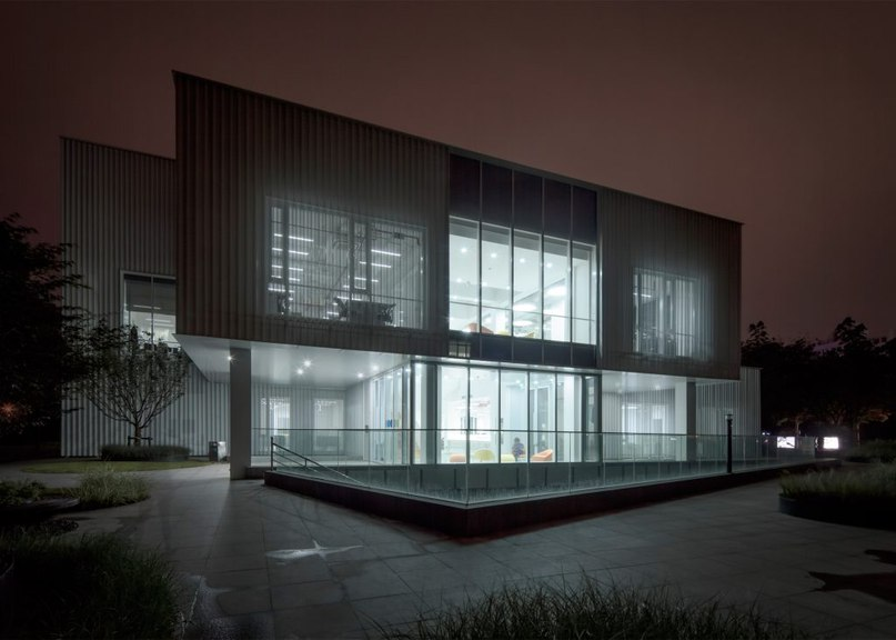 Shanghai office transformed into aluminium-clad tech incubator