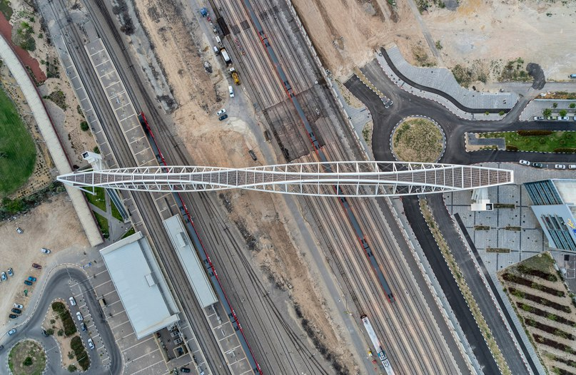 Beersheba station bridge in Israel is shaped