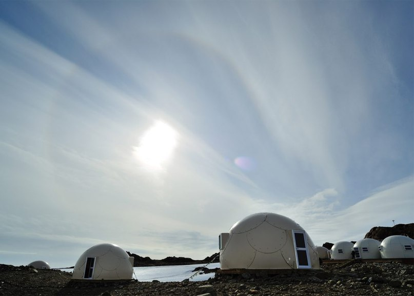 Luxury campsite in Antarctica offers tiny domed
