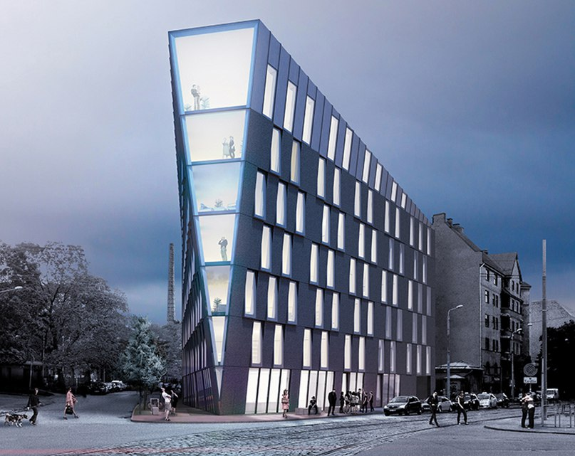 NRJA conceives multi-use office building in riga,