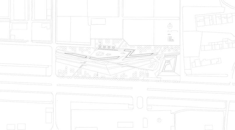Zigzagging concrete «veranda» built in Shanghai agricultural