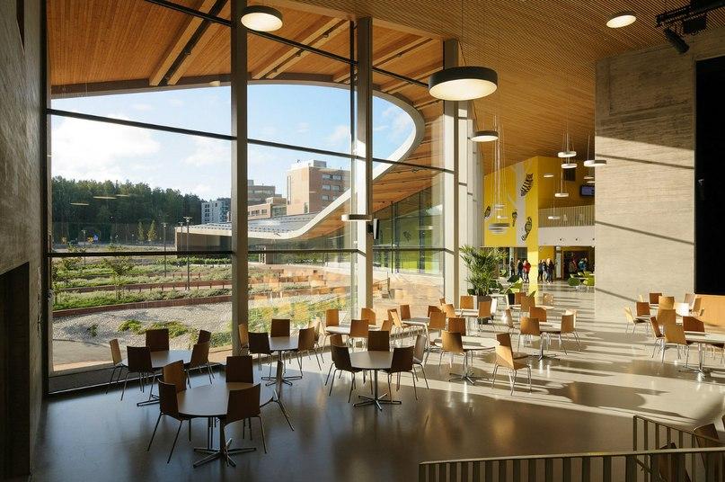 Школа будущего в Saunalahti Финляндия Детские психологи уже | Архитектурный  журнал ADCity