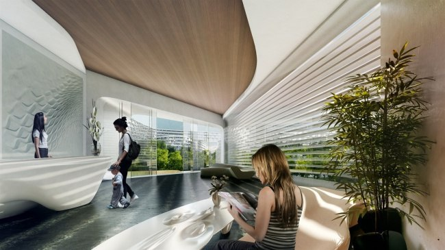 Множество балконов архитектор: Заха Хадид проекты: Жилой комплекс Esfera City Center где: Мексика.