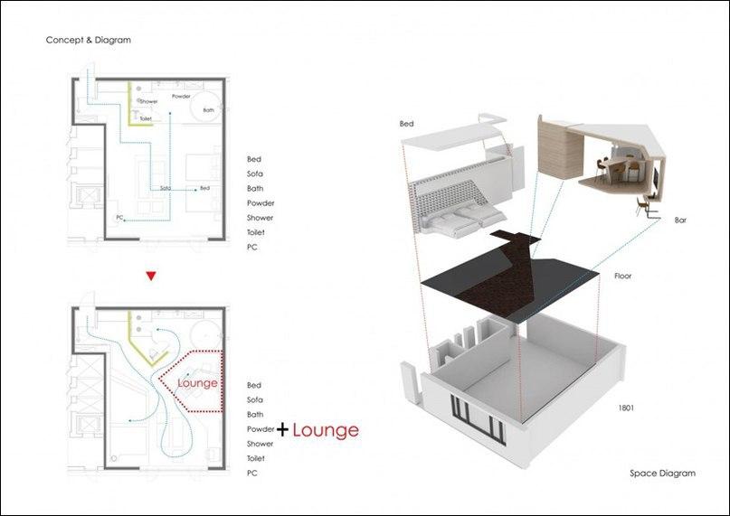 Проект LOUNGE 17 завершен студией SEUNGMO LIM