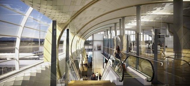 Гардермуэн, Международный аэропорт Осло, перестраиваеся по проекту