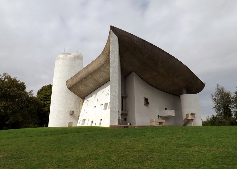 Le Corbusier's Ronchamp chapel is one of