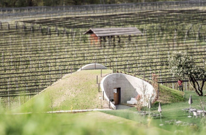 В долине Passiria на севере Италии посреди