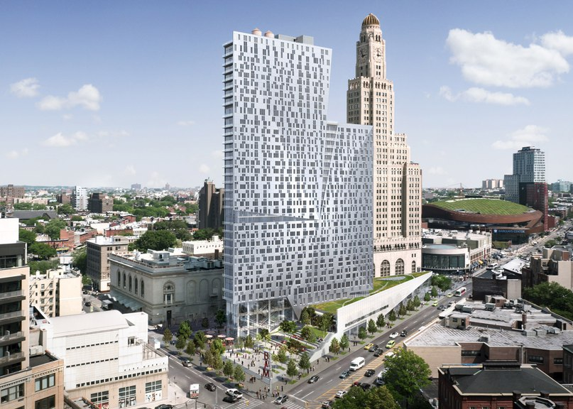 Brooklyn apartment tower by Enrique Norten nears