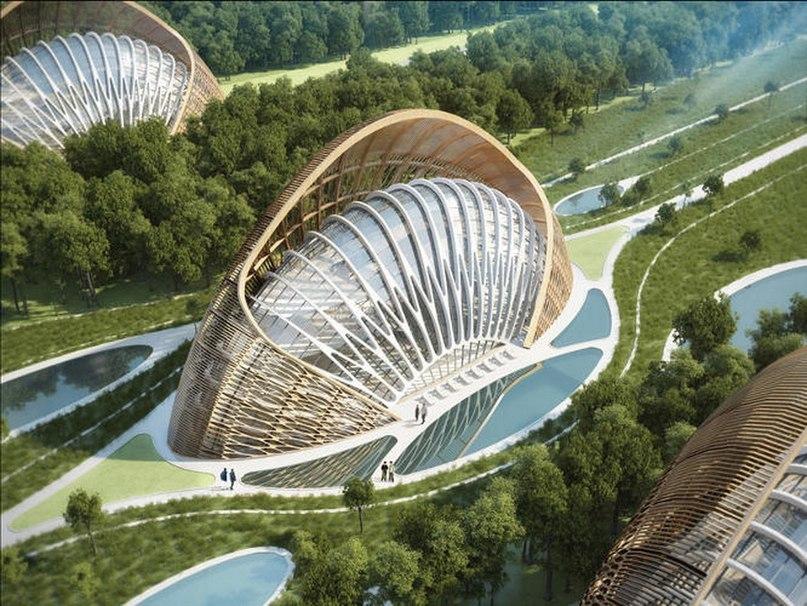 В Китае строят эко-город, сочетающий прелести городской